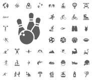 Bowling icon. Sport illustration vector set icons. Set of 48 sport icons. Bowling icon. Sport illustration vector set icons. Set of 48 sport icons Stock Image