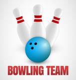 Bowling icon Royalty Free Stock Photos