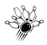 Bowling icon Stock Images