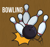 Bowling icons design Stock Image