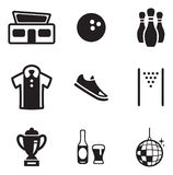 Bowling Icons Stock Photography