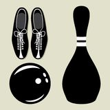 Bowling  icons Stock Photo