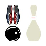 Bowling  icons Royalty Free Stock Photography