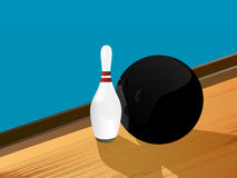 Bowling illustration Royalty Free Stock Photo