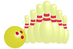 Bowling - Illustration Royalty Free Stock Photo