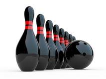 Bowling. ilustración 3D en el fondo blanco libre illustration