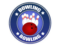 Bowling label Royalty Free Stock Photos