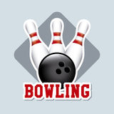Bowling label Stock Photography