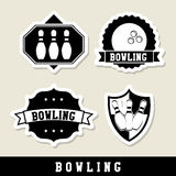 Bowling labels Stock Photography