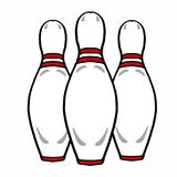 Bowling labs drawing illustration white background. Bowling labs Stock Photos