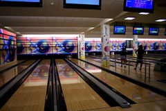 Bowling lane Royalty Free Stock Images