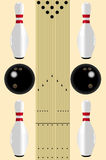 Bowling lane diagram Royalty Free Stock Photo