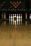 Bowling Lane - Golden Moment Royalty Free Stock Image