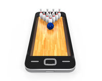 Bowling Lane in Mobile Phone Stock Photos
