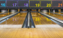 Bowling lane Stock Images