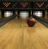Bowling Lanes - Rolling Bowling Ball stock image