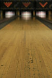 Bowling Lanes - Victory or Defeat?. The road ahead is unclear - what awaits, victory or defeat stock images