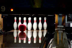 Bowling line Stock Image