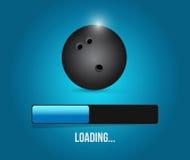 Bowling loading bar illustration design Stock Photo