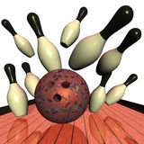 Bowling Logo Royalty Free Stock Photo