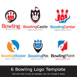Bowling Logo Template Design Vector Royaltyfri Illustrationer