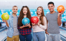 Bowling lovers Royalty Free Stock Photos