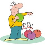 Bowling - man Royalty Free Stock Photo