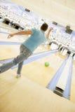 bowling man rear view Στοκ Φωτογραφίες