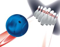 Bowling in moves Stock Image