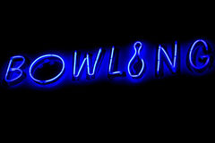 BOWLING neon sign Stock Photo