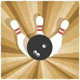 Bowling old background Stock Image