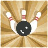 Bowling old background stock illustration