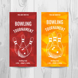 Bowling party invitation card. Sport tournament flyer. Royalty Free Stock Photos