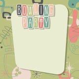 Bowling Party Invitation Mid Century Modern Cool. Bowling Party Artwork Invitation in a Mid-Century Modern Style Retro Vintage Look vector illustration