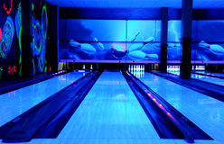 Bowling paths Royalty Free Stock Image