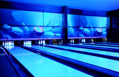 Bowling paths Stock Image