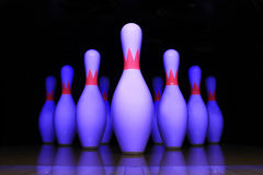Bowling pin. With a black background Royalty Free Stock Images