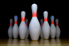 Bowling pin. With a black background Royalty Free Stock Photography