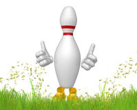 Bowling pin 3d mascot figure Royalty Free Stock Photography