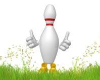 Bowling pin 3d mascot figure