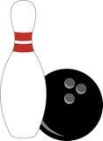 Bowling Pin & Ball Royalty Free Stock Photos