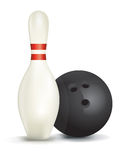 Bowling Pin and Ball  Illustration Royalty Free Stock Images