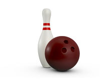 Bowling Pin and Ball Stock Image