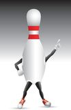 Bowling pin character striking a pose Royalty Free Stock Photo
