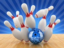 Bowling pin. 3D illustration image Stock Image