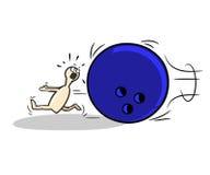 Bowling. Pin running from bowling ball.Logo or mascot Stock Photography