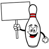 Bowling Pin with Sign Royalty Free Stock Photo