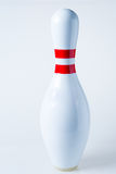 Bowling pin. On white background stock photos