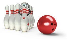 Bowling Pin Worried Stock Photos