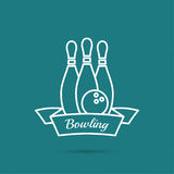 bowling Pin y bola Fotografía de archivo
